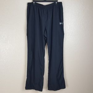 Under Armour Loose Track Pants Mens Size XXL Black